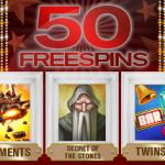 50 free spins hos Redbet