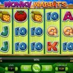 100 free spin på Wonky Wabbits