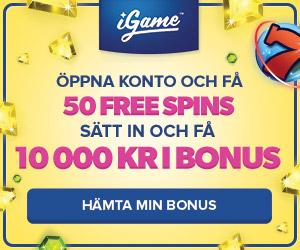 spela hos iGame med 50 freespins